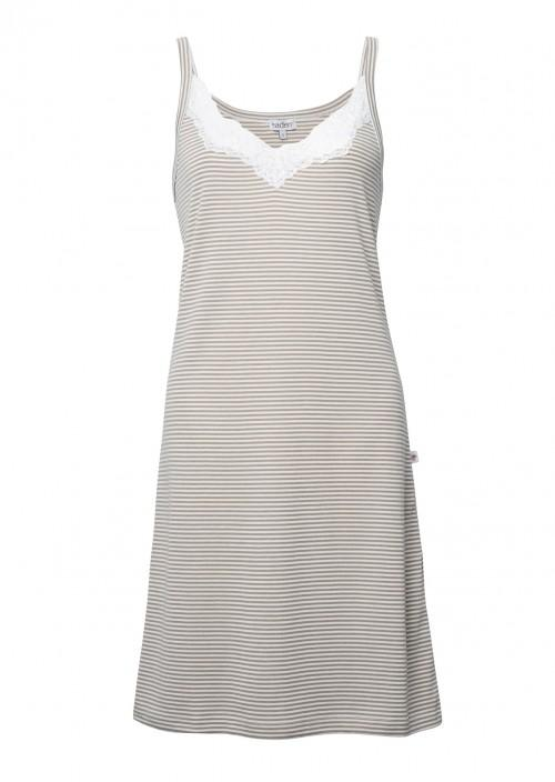 Grace Nightie – Taupe Stripe