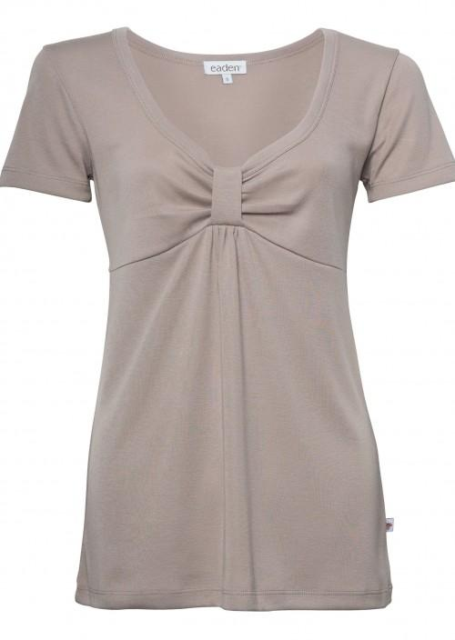Eva Short Sleeve Top – Taupe