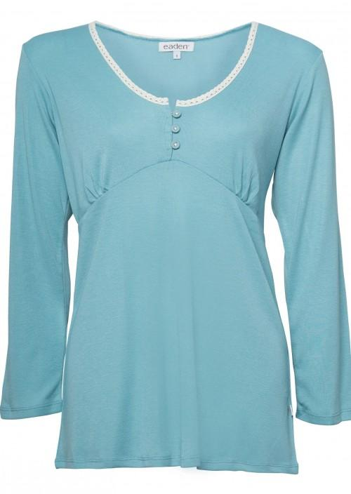 Laura Long Sleeve Top – Cameo Blue