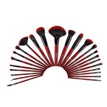 Load image into Gallery viewer, RUBY RED 24 PC BRUSH SET