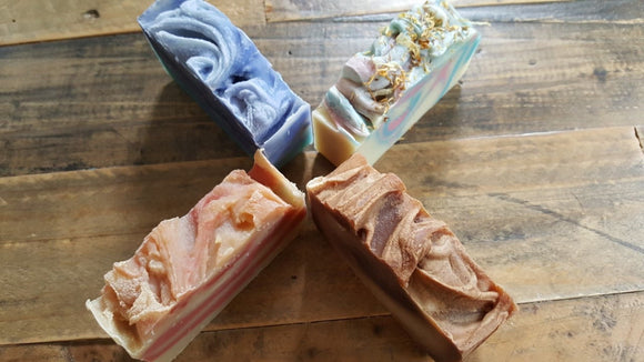 4 Bars Olive Oil Cold Process Soap (Choose Your Scent)