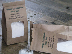 Sore Muscle Aromatherapy Foaming bath salts   32  0z bag