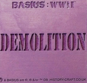 BASIUS : DEMOLITION
