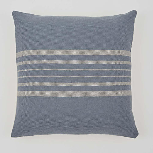 Antibes Blue & Linen Cushion