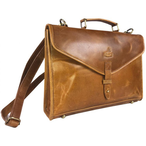 Natural Leather Tan Briefcase