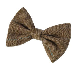Dogs Tweed Bow Tie