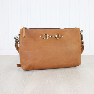 Essentials Leather Handbag, Tan