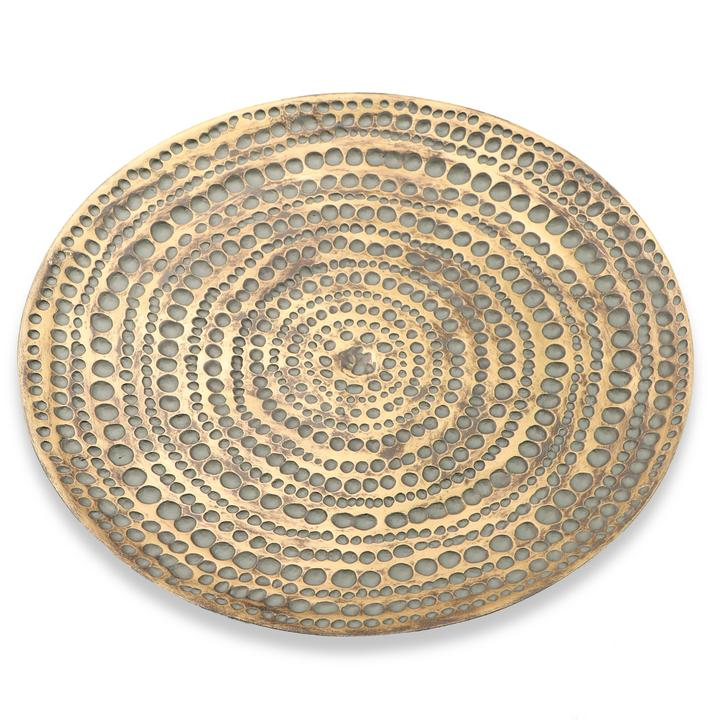 Gold Dimpled Bowl/Wall Plate