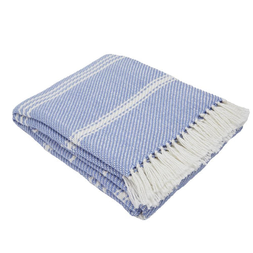 Oxford Stripe Cobalt Blanket