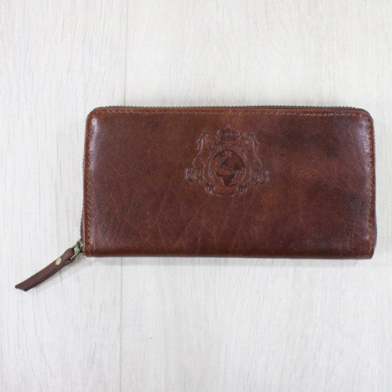 Leather Purse, Dark Brown