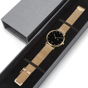 GG Gold Stainless Steel Bracelet Water resistance Unisex Luxury Watch