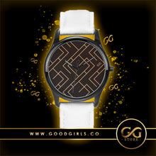 Load image into Gallery viewer, GG Maze Watch White Band