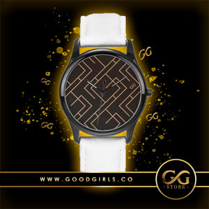 GG Maze Watch White Band
