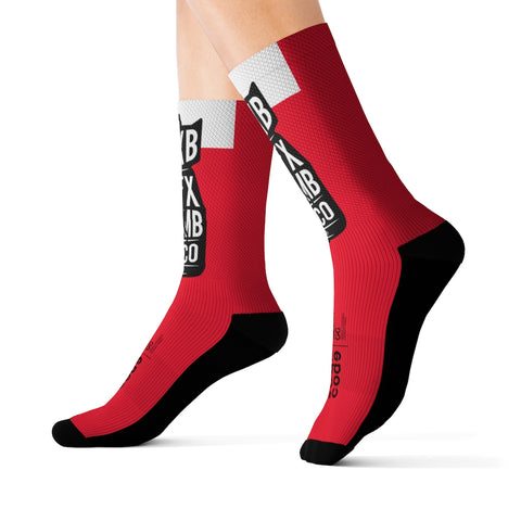 GG Sex Bomb Red Sublimation Socks