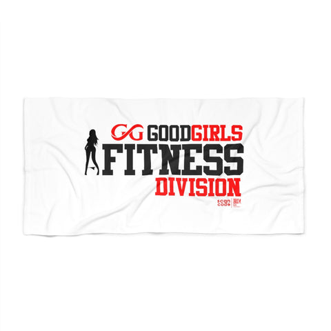 Good Girls Fitness Division White Beach Towel