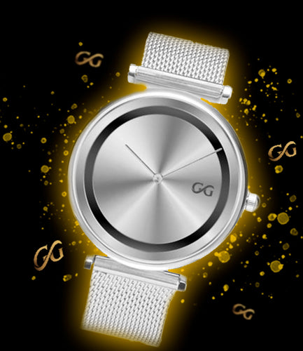 GG Silver Watch Milanese Band