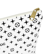 GG Style White Accessory Pouch w T-bottom GG New