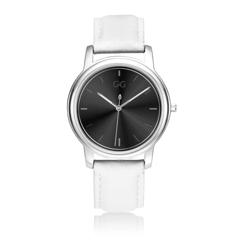 GG White & Silver Watch