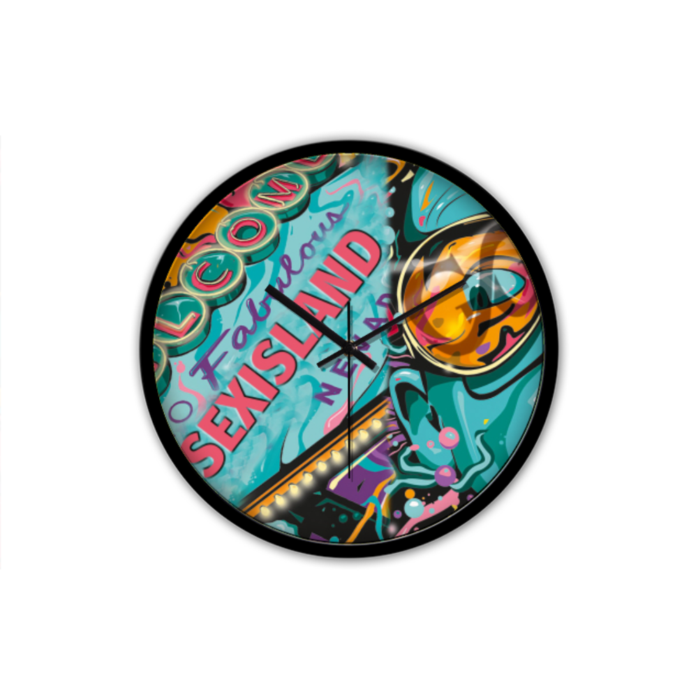 Sex Island Pop Art V2 Wall Clock
