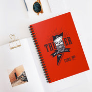 GG Thunder Red Spiral Notebook - Ruled Line