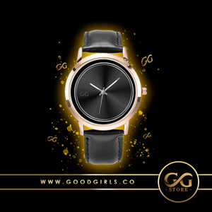 GG Stainless Steel Gold and Genuine Leather Band Water resistance Unisex Watch