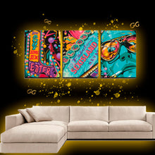 Load image into Gallery viewer, 3 Panels Canvas Prints Wall Art for Wall Decorations Sex Island