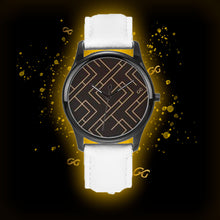 Load image into Gallery viewer, GG Art Deco Watch White Leather Band