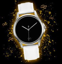 Load image into Gallery viewer, GG Stainless Steel Watch with White Leather Band