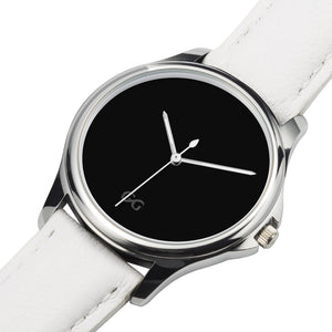 GG Stainless Steel White Genuine Leather Band Water resistance Unisex Watch