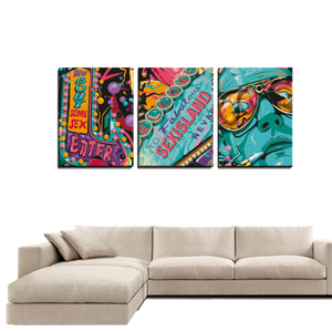 3 Panels Canvas Prints Wall Art for Wall Decorations Sex Island