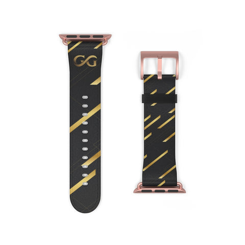 GG Black and Gold Apple Watch Band