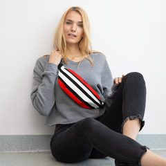 Red and Black Lines Fanny Pack