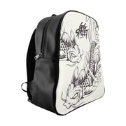 GG Street Koi Black and White School Backpack