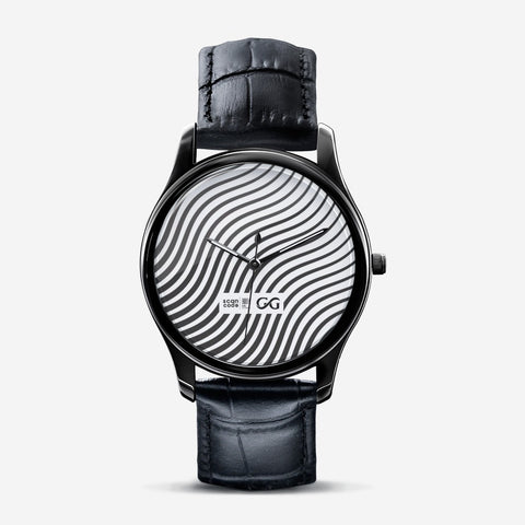 Classic Zebra Print Black Watch