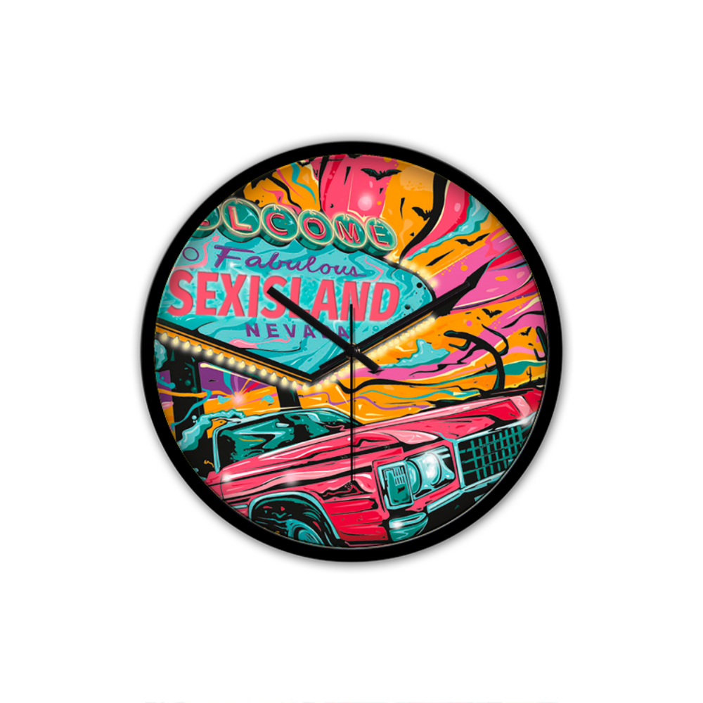 Sex Island Pop Art Wall Clock
