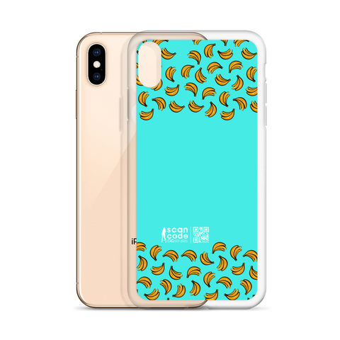 Bananas Teal iPhone Case