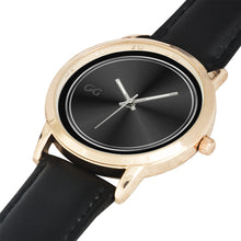 Load image into Gallery viewer, GG Stainless Steel Gold and Genuine Leather Band Water resistance Unisex Watch