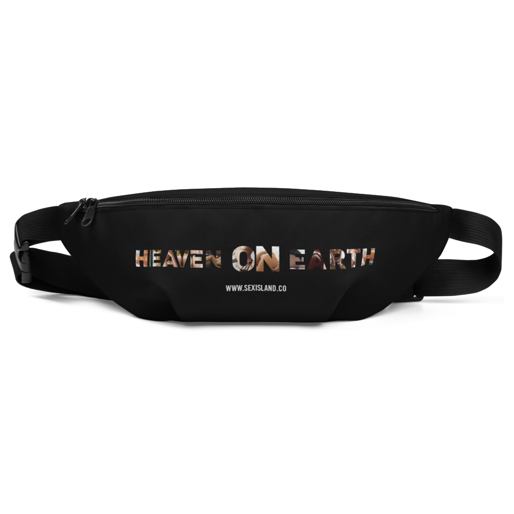 Heaven On Earth Fanny Pack Black color