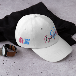 GG Cursive blue and pink Hat