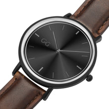 Load image into Gallery viewer, GG Brown Leather Strap Stainless Steel Watch