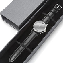 Load image into Gallery viewer, GG Silver Stainless Steel Genuine Leather Band Office Unisex Watch