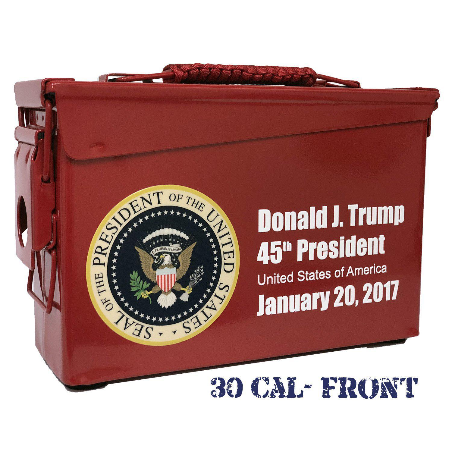 Trump Commemorative Custom Ammo Can