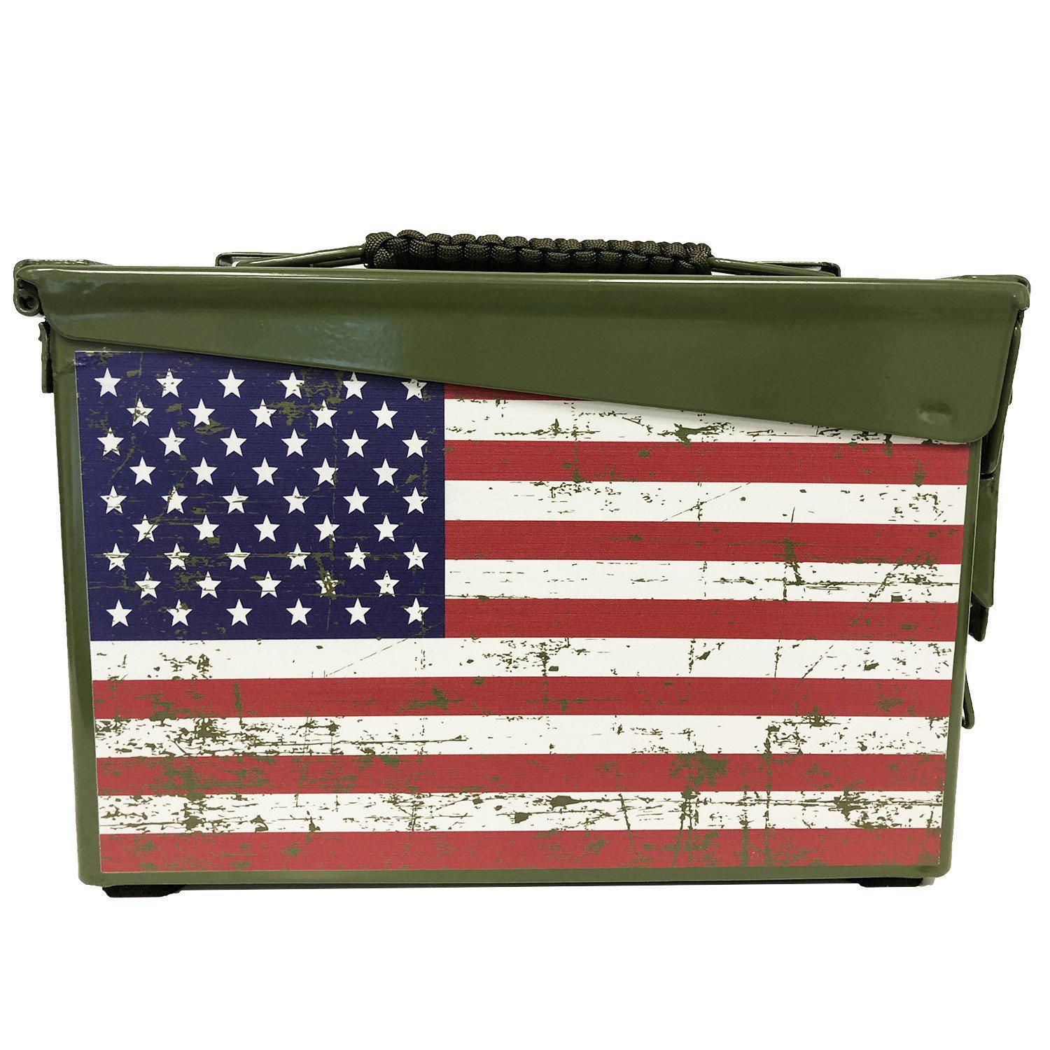 American Flag Custom Ammo Can