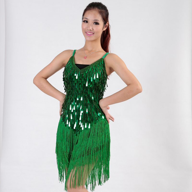 b52590eb0ff70 ONEPRO 1920's V-Neck Mini Backless Fringe Hem Sequined Flapper Dress* (ONE  SIZE
