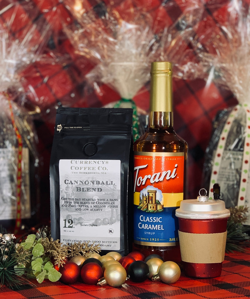 Holiday Gift Set: 12oz Bag of Coffee + Bottle of Torani