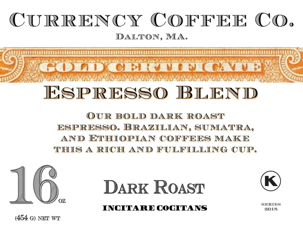 Currency™ Coffee Gold Certificate Espresso