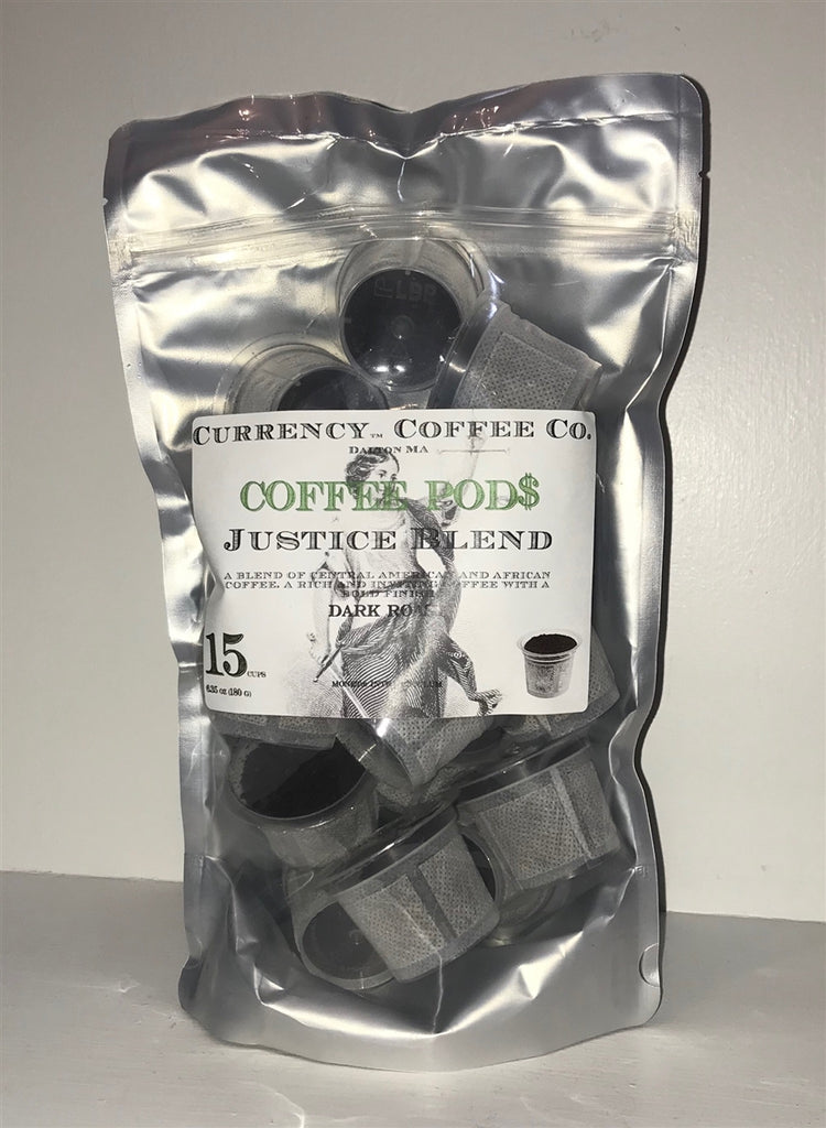 Currency™ Coffee Justice Blend Pods 15-count