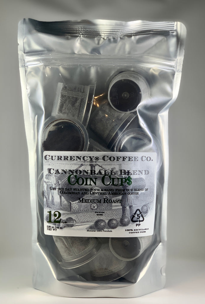 Currency® Coffee Cannonball Blend Pods 12-count