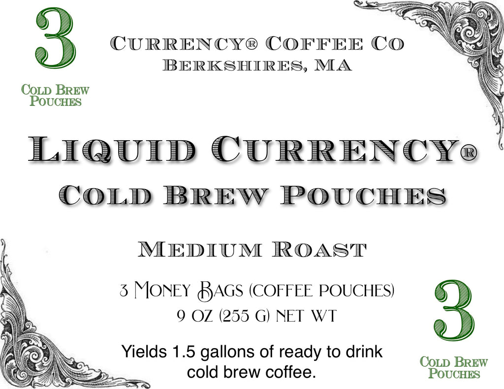 Currency® Coffee Cold Brew Coffee Pouches