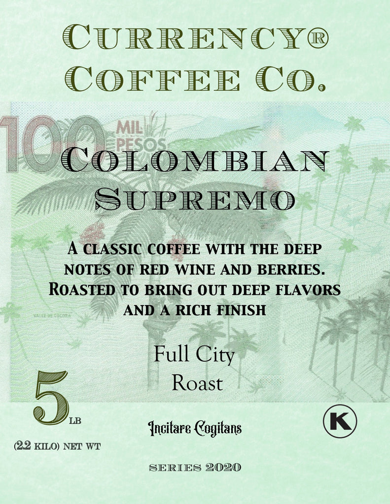 Currency® Coffee Colombian Supremo